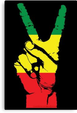 Rasta clipart peace finger
