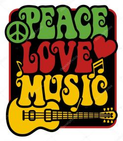 Rastas clipart peace love