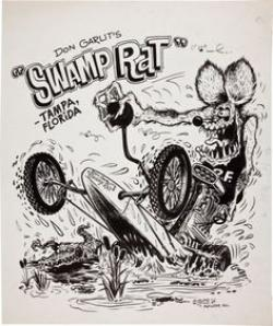 Rat Fink clipart dragster