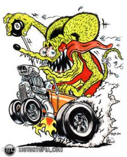 Rat Fink clipart rockabilly