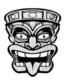 Drawn masks mouth