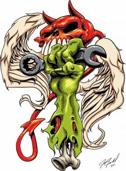 Rat Fink clipart zombie