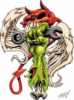 Rat Fink clipart zombie