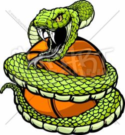 Viper clipart coiled snake