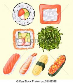 Japanese Food clipart raw