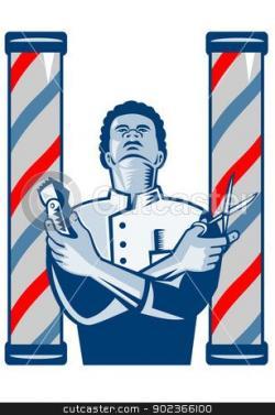 Barbet clipart barber pole