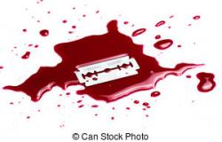 Razorblade clipart blood