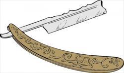 Razorblade clipart straight edge