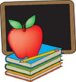 Blackboard clipart reading