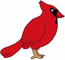 Cardinal clipart reading