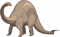 Extinct clipart brontosaurus