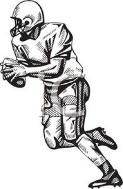 Receiver clipart football quarterback