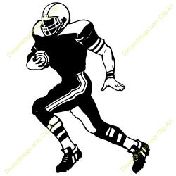 Football clipart runner