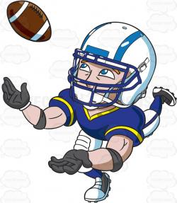 Receiver clipart rugby player