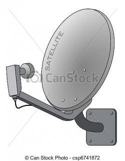 Aerial clipart satellite dish