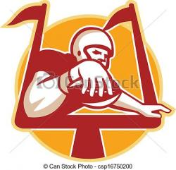 Receiver clipart touchdown