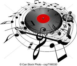 Music clipart record player
