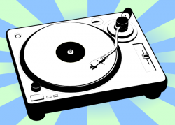 Record Player clipart animated