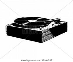 Record Player clipart retro