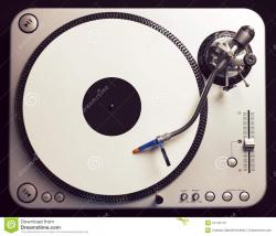 Record Player clipart top view
