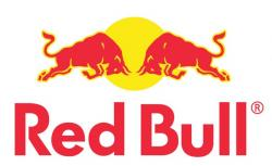 Red Bull clipart graphic