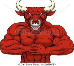 Red Bull clipart mascot