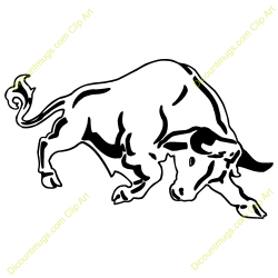 Red Bull clipart running bull