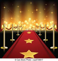 Red Carpet clipart hollywood light