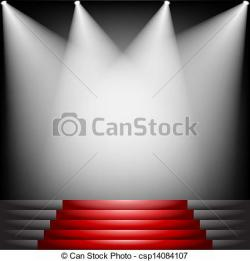 Red Carpet clipart hollywood spotlight