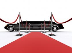 Red Carpet clipart limo