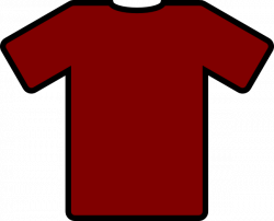 Red clipart football jersey