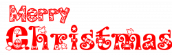 Merry Christmas clipart font