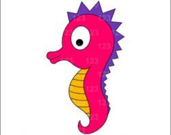 Cute clipart seahorse