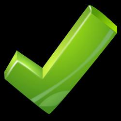 Check clipart big green