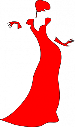 Dress clipart lady in red