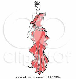 Red Dress clipart fashion dress