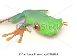 Red Eyed Tree Frog clipart costa rican