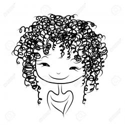 Women clipart curly