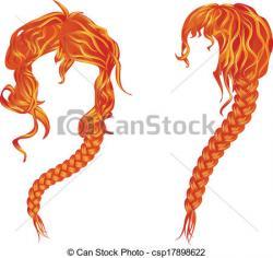 Braid clipart braided hair