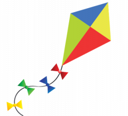 Kite clipart transparent background