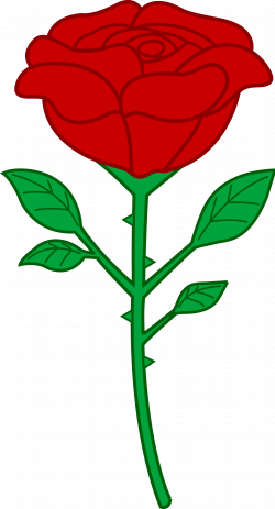 Stem clipart simple rose
