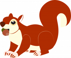 Squirrel clipart acorn clipart