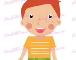 Redhead clipart child head
