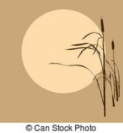Reed clipart sun background