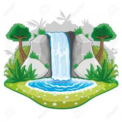 Reed clipart waterfall