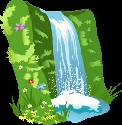 Savannah clipart waterfall