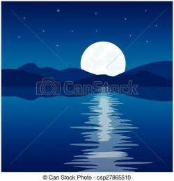 Moonlight clipart small moon