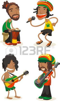 Reggae clipart cartoon
