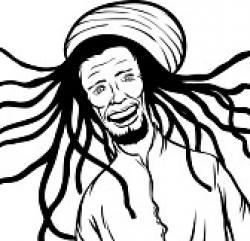Reggae clipart dreads