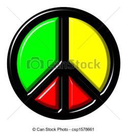 Reggae clipart logo peace